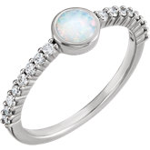 Opal & Diamond Ring or Mounting