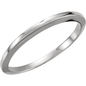 14kt White #3 Band with One-Notch