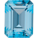 Emerald/Octagon SWAROVSKI GEMSTONES™ Genuine Ice Blue Topaz
