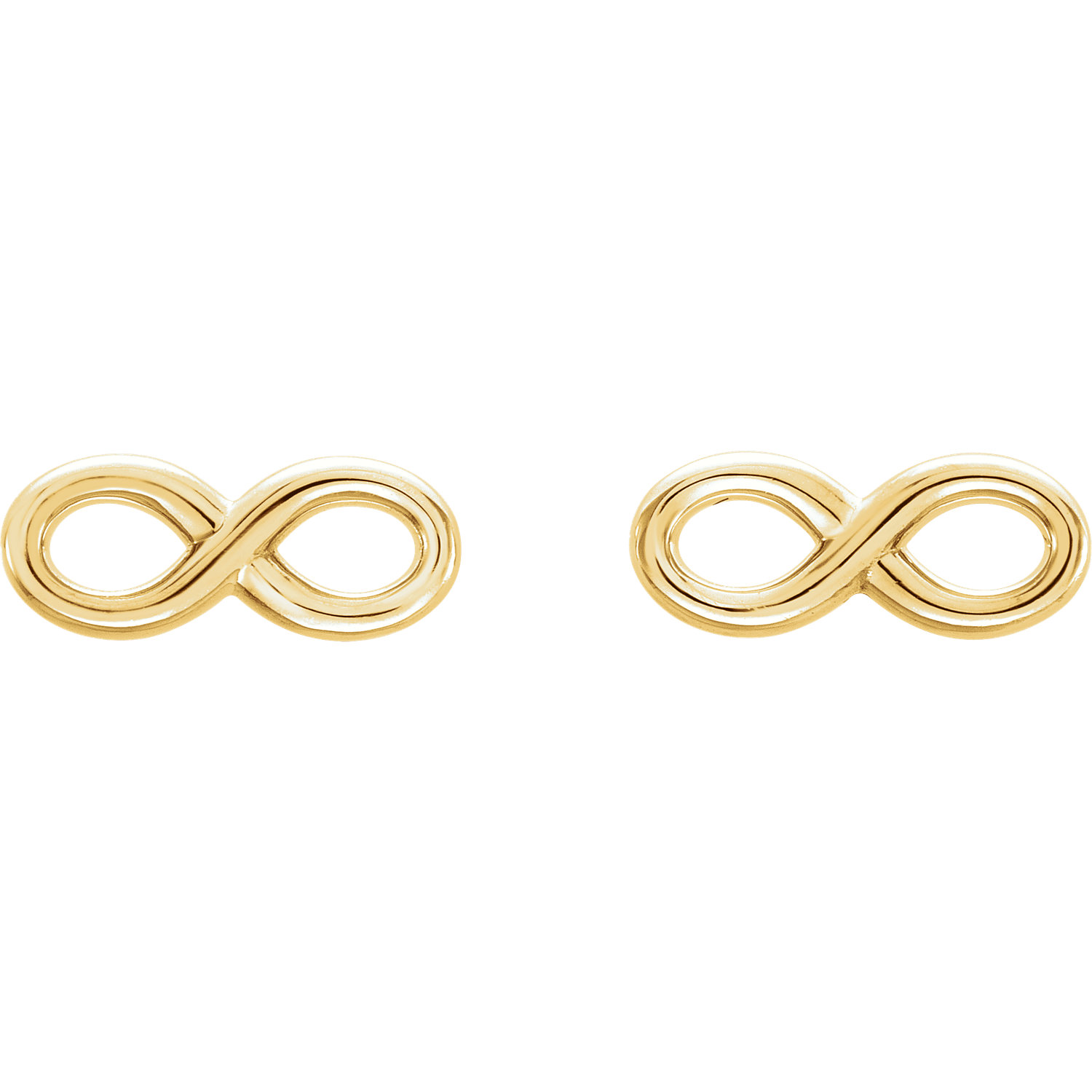 14kt Yellow Infinity Earrings