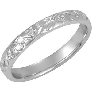 Hand-Engraved 3mm Band