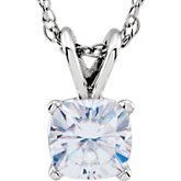 Created Moissanite Solitaire Necklace
