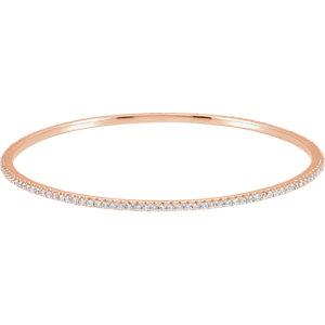 14K Rose 3 CTW Diamond Stackable Bangle Bracelet