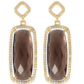 Halo-Style Antique Cushion Shaped Dangle Earrings