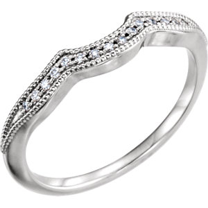 14kt White .06 CTW Diamond Matching Band