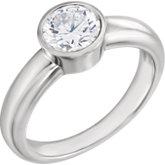 Bezel Solitaire Engagement Ring