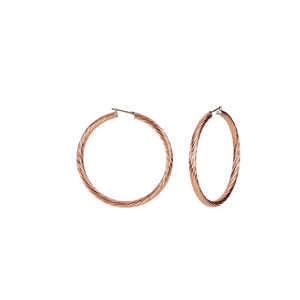 Amalfi™ Immersion Plated Stainless Steel Twisted Hoop Earrings