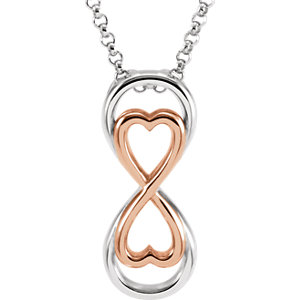 Rose Gold Plated Love For Infinity Necklace