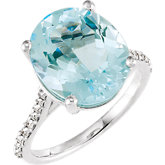Gemstone & Diamond Accented Ring or Mounting