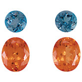 Genuine Spessartite Garnet & London Blue Topaz Layout