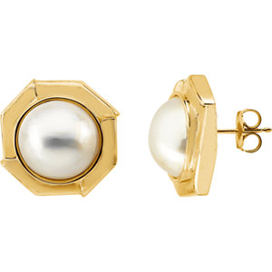 Mabe Aultured Pearl<br> Earrings