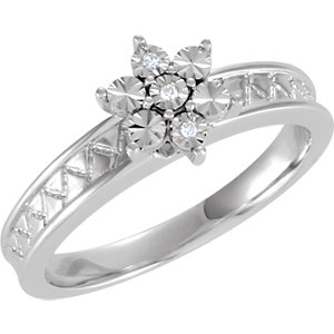 .015 CTW Diamond Illusion Engagement Ring