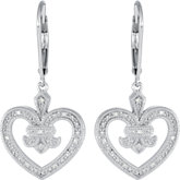 .06 ct tw Diamond Heart Design Earrings