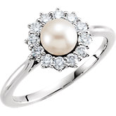 Pearl & Diamond Ring or Mounting