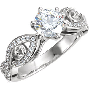 Diamond Engagement Infinity Design Ring or Mounting