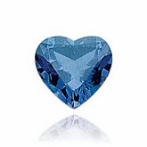 Heart Imitation Blue Zircon