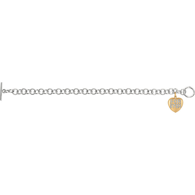 14K Yellow Gold-Plated Sterling Silver .01 CTW Diamond