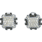 1/4 ct tw Black & White Diamond Earring