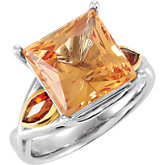 Genuine Precious Topaz and Citrine Ring