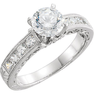 Platinum 1/6 ATW Diamond<br> Band Size 6