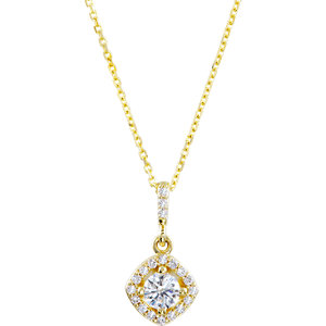 Diamond or Tanzanite Halo-Styled Necklace or Pendant Mounting