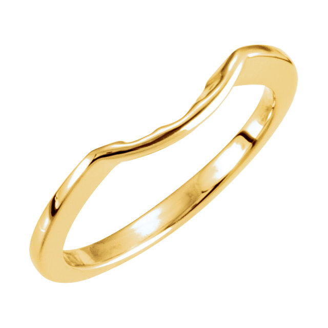 14K Yellow Band for 5.2mm Engagement Ring