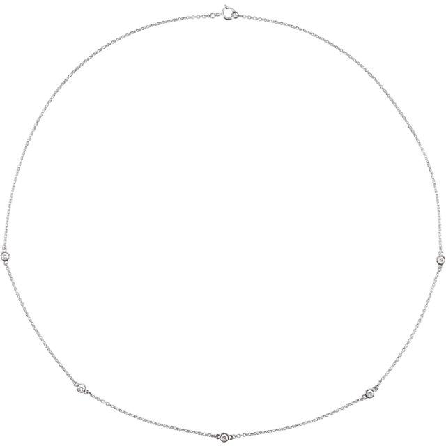 Sterling Silver 1/4 CTW Diamond Bezel 18