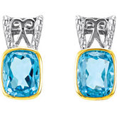 Genuine Swiss Blue Topaz Earrings