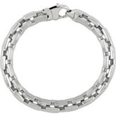 Stainless Steel Center Link Bracelet or Chain