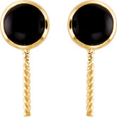 Genuine Onyx Semi-mount Earrings