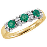Emerald & Diamond Anniversary Band