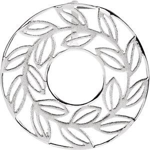 Leaf Design Pendant with Sandblast Finish