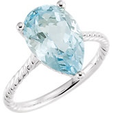 Sky Blue Topaz Rope Design Ring or Mounting
