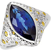 Fashion Ring for Marquise Center