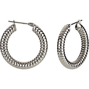 Amalfi™ Immersion Plated Stainless Steel Shrimp Hoop Earrings