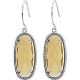 Oval-Shaped Dangle Earrings