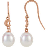 Pearl Moon Dangle Earrings