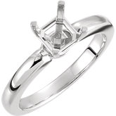 Asscher Solitaire Engagement Ring Mounting