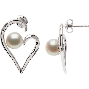 Freshwater Aultured Pearl<br> Earrings