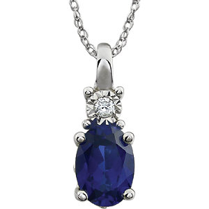 Gemstone & Diamond Accented Necklace