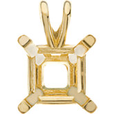 Princess/Square 4-Prong Lightweight Pendant Mounting