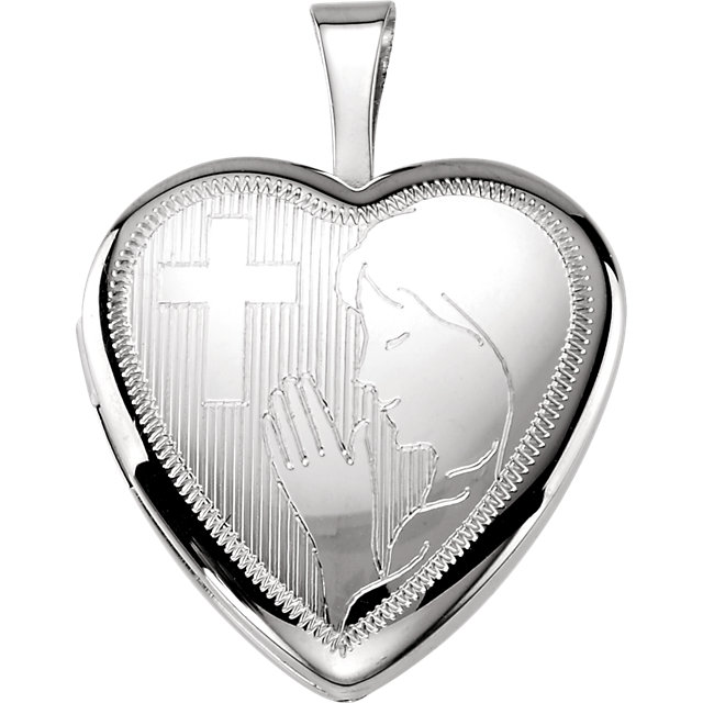 Sterling Silver Prayer Locket