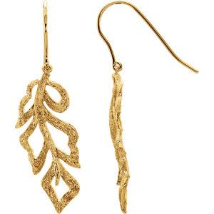 Be Posh® Textured Bark Leaf Earrings