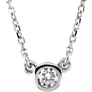 "14K White 1/10 CTW Diamond 18"" Necklace"