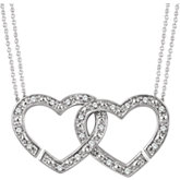 Diamond 2-in-1 Interlocking Heart Necklace