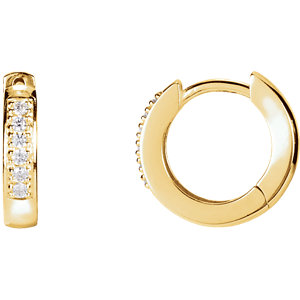 Diamond Hoop Earring or Mounting
