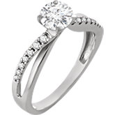 Criss-Cross Engagement Ring