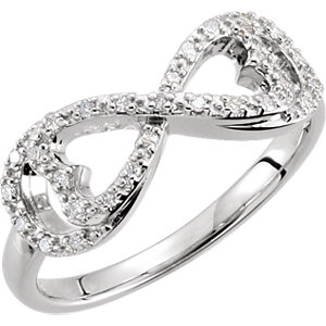 .13 CTW Diamond Love for Infinity Ring