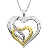 .03 ct tw Diamond Heart 18