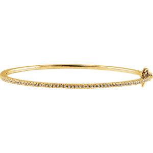 "14K Yellow 1/2 CTW Diamond Pave' 7"" Bracelet"